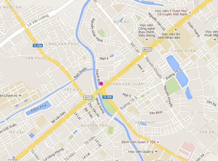 bản đồ vị trí tháp doanh nhân