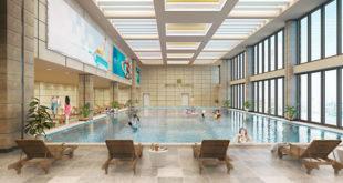 bể bơi 4 mùa trong tòa tháp doanh nhân hà đông