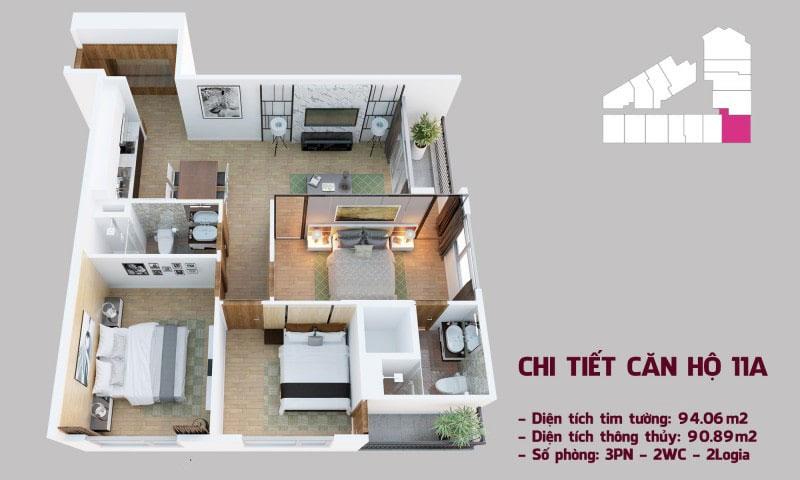 Chi tiết căn hộ 11a