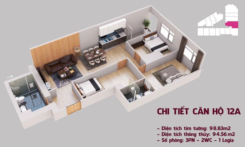 Chi tiết căn hộ 12a