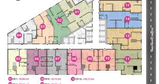 mặt bằng tháp doanh nhân tầng 3 - 11