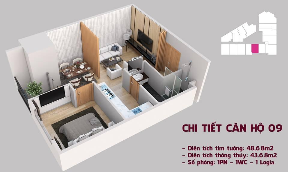 Chi tiết căn hộ mẫu 09