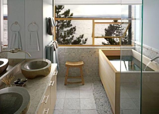 Thiết kế nhà tắm phong cách Nhật